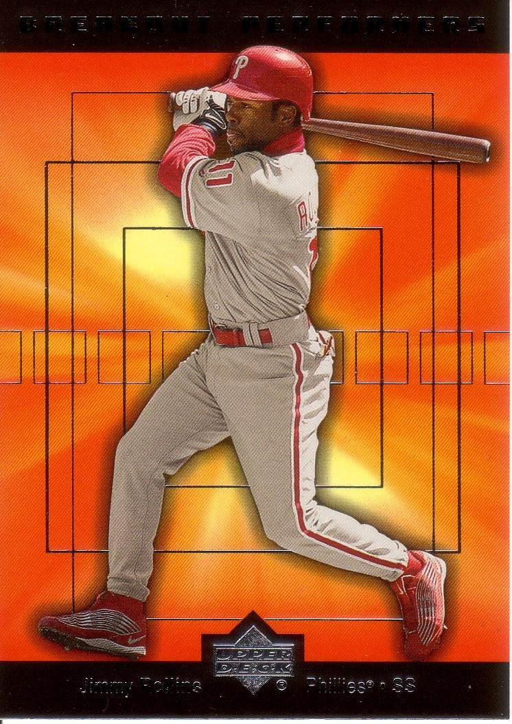 JIMMY ROLLINS 2002 UPPER DECK BREAKOUT PERFORMERS #BP7 PHILADELPHIA PHILLIES AllstarZsports.com