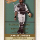 CHARLES JOHNSON 2002 FLEER AUTHENTIX SECOND ROW SP 179/250 #60 FLORIDA MARLINS AllstarZsports.com