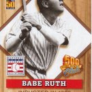 BABE RUTH 2001 TOPPS POST 500 HOME RUN CLUB #1 NEW YORK YANKEES AllstarZsports.com