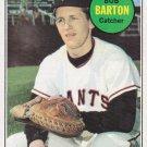 BOB BARTON 1969 TOPPS #41 SAN FRANCISCO GIANTS www.AllstarZsports.com
