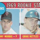 DANNY MORRIS / CRAIG NETTLES 1969 TOPPS #99A ROOKIE MINNESOTA TWINS www.AllstarZsports.com