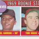 GIL GARRIDO / TOM HOUSE 1969 TOPPS #331 ROOKIE ATLANTA BRAVES www.AllstarZsports.com