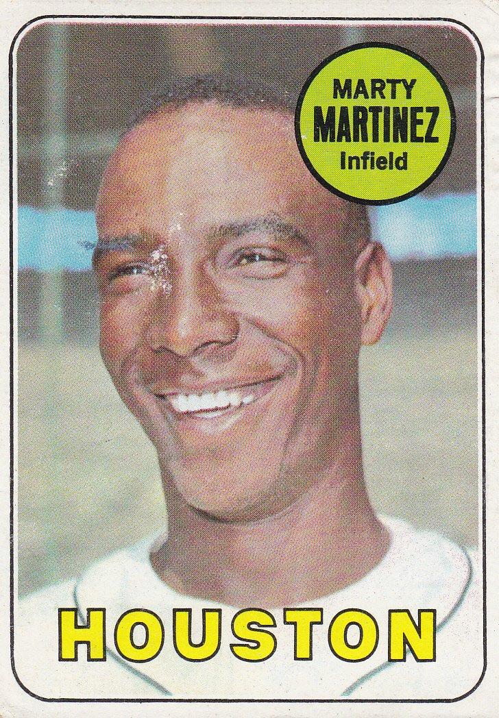 MARTY MARTINEZ 1969 TOPPS #337 ROOKIE HOUSTON ASTROS www.AllstarZsports.com
