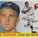 BOB LENNON 1955 TOPPS #119 ROOKIE NEW YORK GIANTS www.AllstarZsports.com
