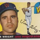 TOM WRIGHT 1955 TOPPS #141 WASHINGTON NATIONALS www.AllstarZsports.com
