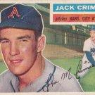 JACK CRIMIAN 1956 TOPPS #319 KANSAS CITY ATHLETICS www.AllstarZsports.com