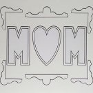 Double White Black-core Mom Photo Mat Mount