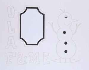 Olaf & Me Frozen Style Snowman Photo Mat Just Add Your Photo