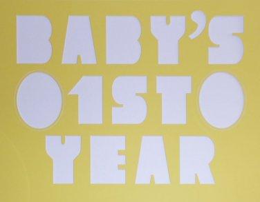 Custom Single Babys 1st Year Letter Picture Photo Mat Mount Matting 16 x 20