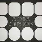 "Custom Color Single ""Senior"" Collage Photo Mat Mount Lettering 16 x 20"