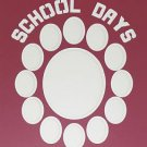 "Pre-Cut Double ""School Days"" Graduation Photo Matte Lettering 16 x 20"
