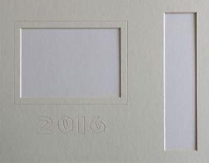 "Custom Color Single ""Signature"" Graduation Photo & Tassel  Mat Lettering 11 x 14"