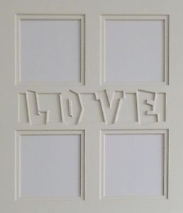 """Custom Double 11 x 14 """"Love Lettering"""" Collage"""