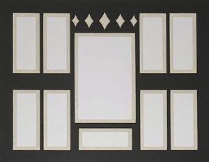 Custom Film Cell Mat Double 11 x 14 Diamond Bar