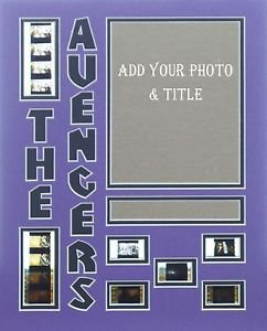 """Custom Color Double Film Cell Mat Mount 11 x 14  Free Clips Of """"THE AVENGERS"""""""