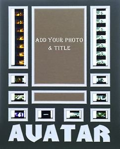 """Custom Color Double Film Cell Mount Mat Matting 11 x 14  Free Clips Of """"AVATAR"""""""