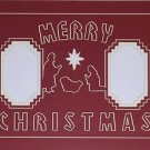 "Pre-Cut Double  ""Merry Christmas Nativity"" Photo Mat 11 x 14"