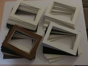 100 Pack  5 x 7 Photo Mats Assorted Color Single Lot #10