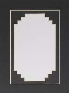 10 Pack  5 x 7 Picture Photo Mats Mounts Matting Black Stepped Double #1