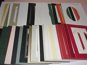 50 Pack 5 x 7 Photo Picture Framing Mats Mounts Matting Assorted Color Lot #1