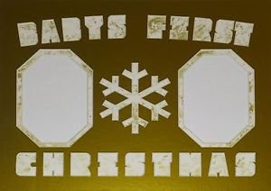 "Pre-Cut Double ""Babys First Christmas Snowflake"" Photo Mat 11 x 14"