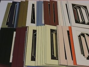 50 Pack  5 x 7 Photo Mats Mounts Matting Assorted Color Standard Over Stepped #1