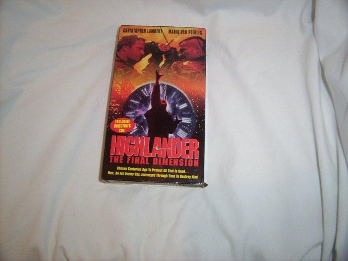 Highlander - The Final Dimension (1995) VHS