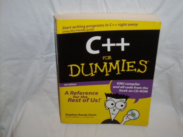 C++ for Dummies (Paperback) 4th edition by Stephen Randy Davis