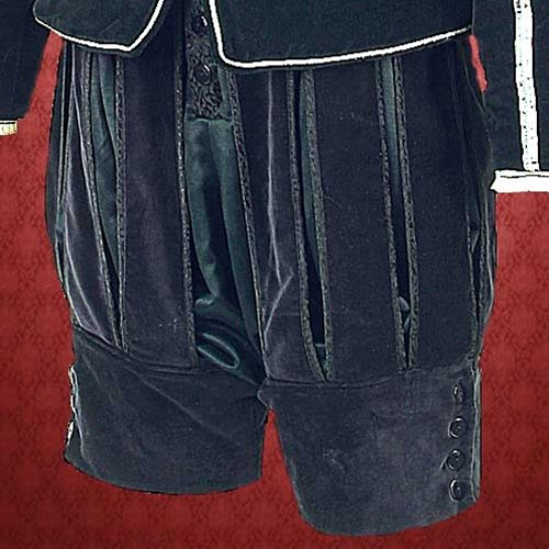 Renaissance Duke of Suffolk Slash Paneled Pants - S/M