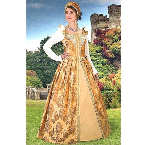 Anjou Gold Renaissance Gown - X-Large