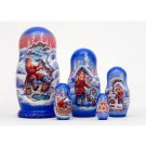 Emelya and the Magic Pike Nesting Doll 5pc. - 6""