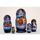Winter Troika Nesting Doll 5pc. - 6""