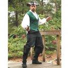 Cotton Drawstring Pirate Pants - Black, XXL