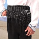 Pirate or Gypsy Tasseled Renaissance Sash - Black