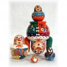 """Moscow Circus Doll 5pc. - 5"""""""