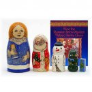 The Snow Maiden's Book and Nesting Doll Set