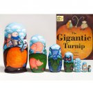 The Gigantic Turnip Book and Nesting Doll Set