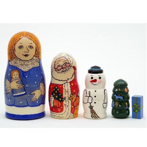 """Snow Maiden's Gift Doll 5pc. - 6"""""""