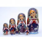 Snow Queen Doll 7pc. - 8""