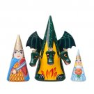 Three-Headed Dragon Doll 3pc. - 7""