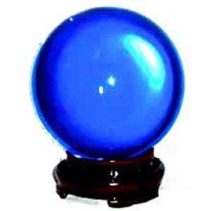 Blue Crystal Ball - 80mm