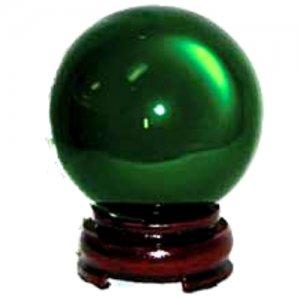Green Crystal Ball - 80mm
