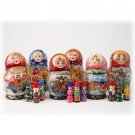 Matryoshka w/Ornaments (Small) - 4.5""