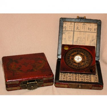 Wooden Lo Pan with Compass Case