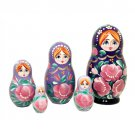 Blue Gradient Nesting Doll 5pc. - 4""