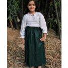 Cotton Medieval Skirt - Dark Green, Small