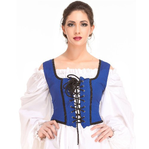 Decorated Wench Bodice � Royal Blue, Large