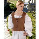 Peasant Bodice – Light Brown, Small
