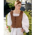 Peasant Bodice – Light Brown, Large