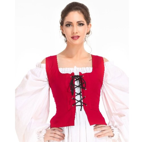 Peasant Bodice � Red, Medium